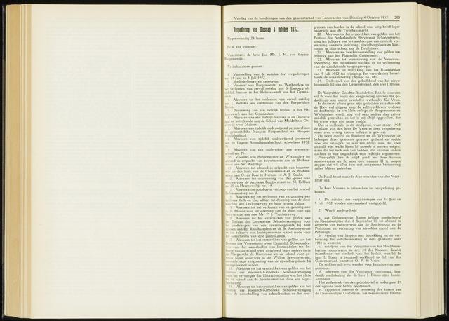 Raadsverslagen van de gemeente Leeuwarden, 1865-2007 (Notulen) 1932-10-04