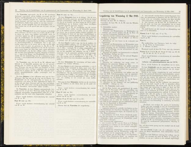 Raadsverslagen van de gemeente Leeuwarden, 1865-2007 (Notulen) 1948-05-12