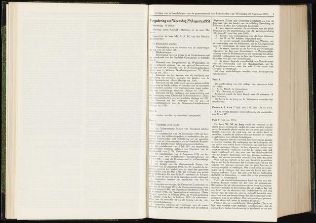 Raadsverslagen van de gemeente Leeuwarden, 1865-2007 (Notulen) 1951-08-29