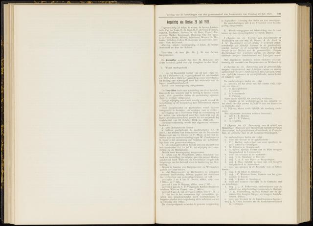 Raadsverslagen van de gemeente Leeuwarden, 1865-2007 (Notulen) 1925-07-28