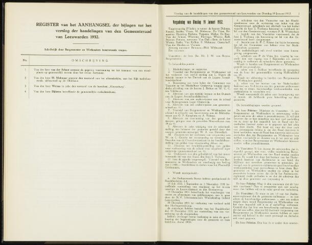 Raadsverslagen van de gemeente Leeuwarden, 1865-2007 (Notulen) 1932