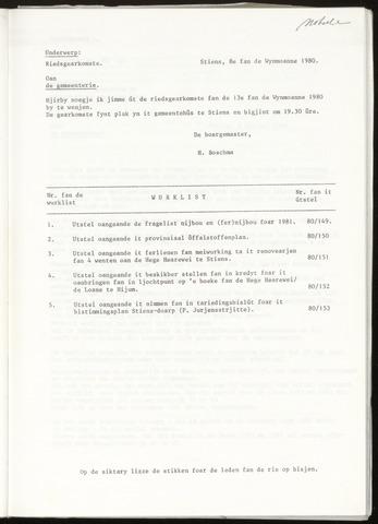 Notulen van de gemeenteraad van Leeuwarderadeel 1980-10-13