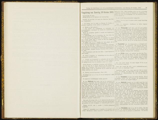 Raadsverslagen van de gemeente Leeuwarden, 1865-2007 (Notulen) 1892-10-29