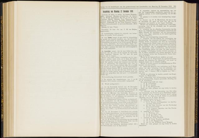 Raadsverslagen van de gemeente Leeuwarden, 1865-2007 (Notulen) 1919-12-22