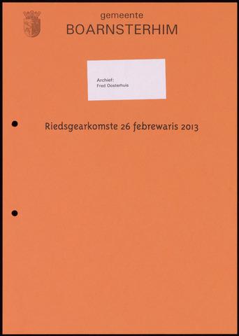 Boarnsterhim vergaderstukken gemeenteraad  2013-02-26