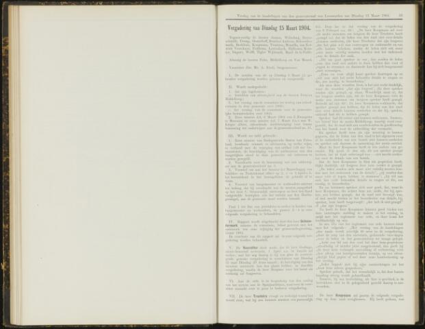 Raadsverslagen van de gemeente Leeuwarden, 1865-2007 (Notulen) 1904-03-15