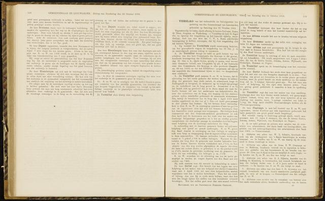 Raadsverslagen van de gemeente Leeuwarden, 1865-2007 (Notulen) 1868-10-31