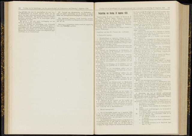 Raadsverslagen van de gemeente Leeuwarden, 1865-2007 (Notulen) 1928-08-28