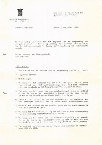 raadsverslagen Idaarderadeel 1935-1983 1983-09-20