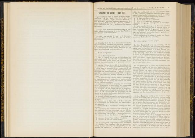 Raadsverslagen van de gemeente Leeuwarden, 1865-2007 (Notulen) 1921-03-01