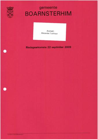 Boarnsterhim vergaderstukken gemeenteraad  2009-09-22