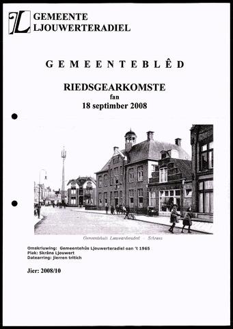 Notulen van de gemeenteraad van Leeuwarderadeel 2008-09-18