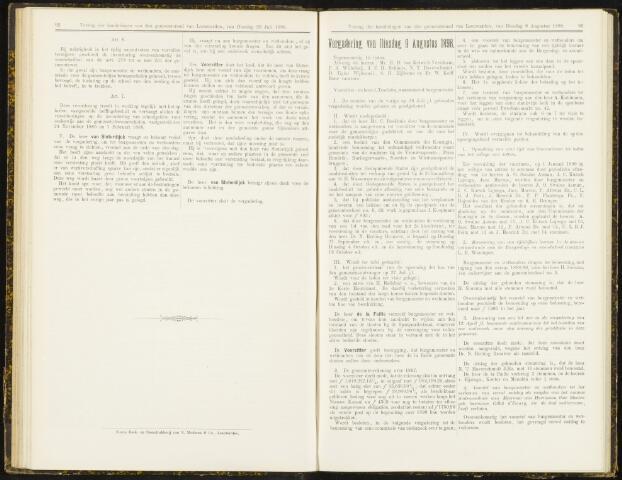Raadsverslagen van de gemeente Leeuwarden, 1865-2007 (Notulen) 1898-08-09