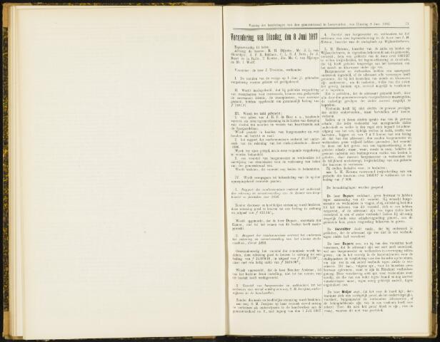 Raadsverslagen van de gemeente Leeuwarden, 1865-2007 (Notulen) 1897-06-08