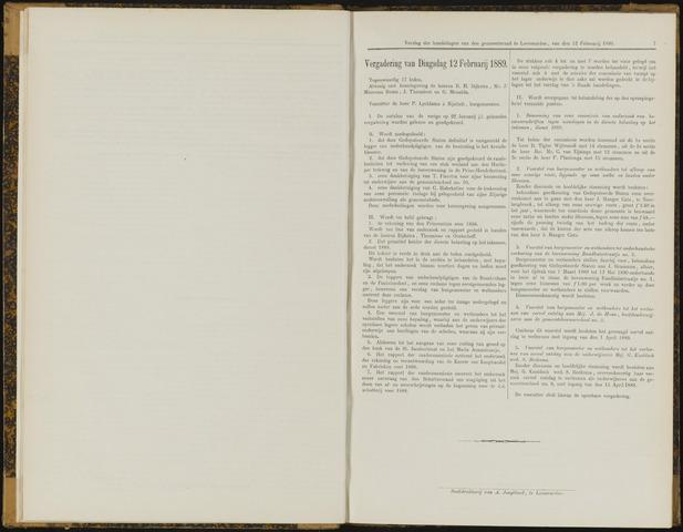 Raadsverslagen van de gemeente Leeuwarden, 1865-2007 (Notulen) 1889-02-12