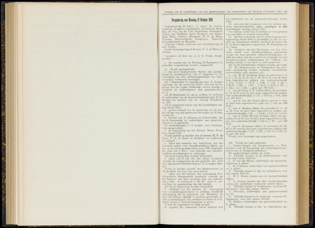 Raadsverslagen van de gemeente Leeuwarden, 1865-2007 (Notulen) 1915-10-12