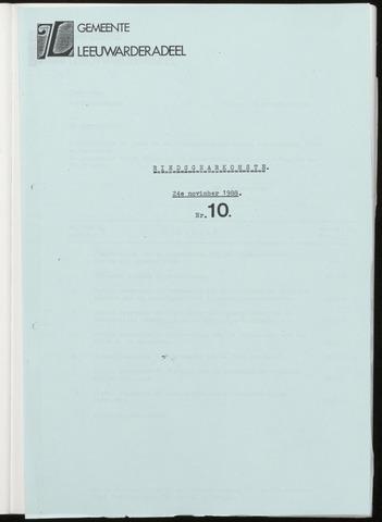 Notulen van de gemeenteraad van Leeuwarderadeel 1988-11-24