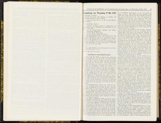 Raadsverslagen van de gemeente Leeuwarden, 1865-2007 (Notulen) 1948-05-19