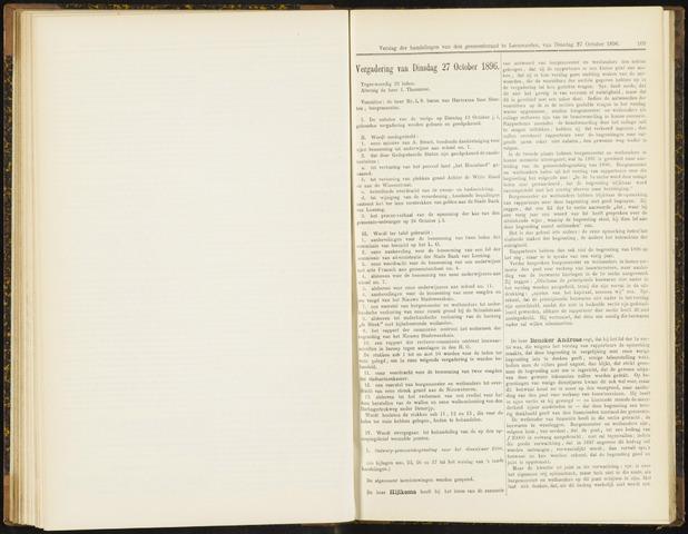 Raadsverslagen van de gemeente Leeuwarden, 1865-2007 (Notulen) 1896-10-27
