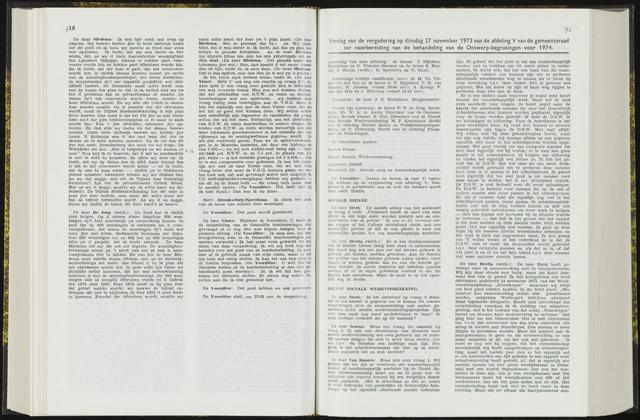 Raadsverslagen van de gemeente Leeuwarden, 1865-2007 (Notulen) 1973-11-27