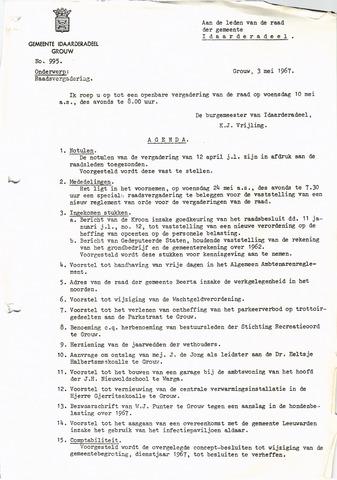 raadsverslagen Idaarderadeel 1935-1983 1967-05-10
