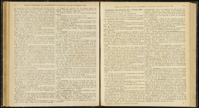 Raadsverslagen van de gemeente Leeuwarden, 1865-2007 (Notulen) 1884-10-04
