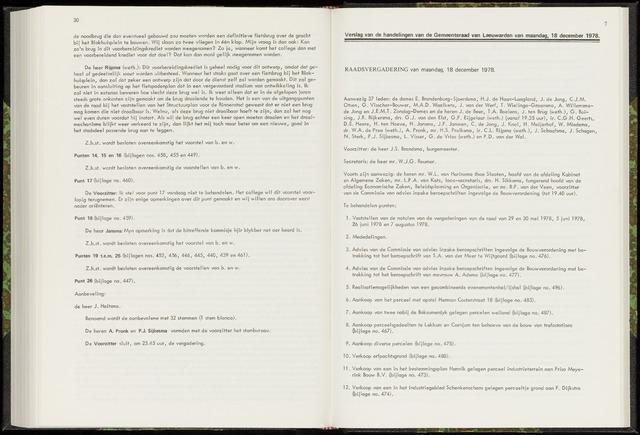Raadsverslagen van de gemeente Leeuwarden, 1865-2007 (Notulen) 1978-12-18