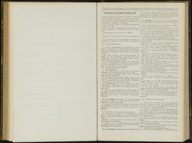 Raadsverslagen van de gemeente Leeuwarden, 1865-2007 (Notulen) 1907-12-24