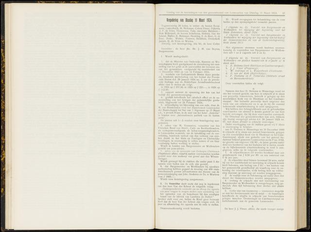 Raadsverslagen van de gemeente Leeuwarden, 1865-2007 (Notulen) 1924-03-11