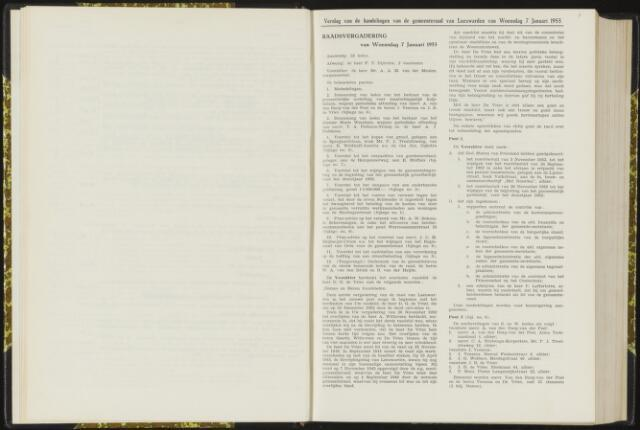 Raadsverslagen van de gemeente Leeuwarden, 1865-2007 (Notulen) 1953