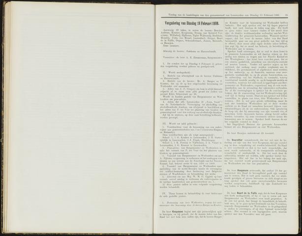 Raadsverslagen van de gemeente Leeuwarden, 1865-2007 (Notulen) 1906-02-13