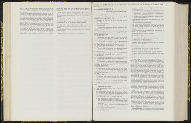 Raadsverslagen van de gemeente Leeuwarden, 1865-2007 (Notulen) 1953-12-16