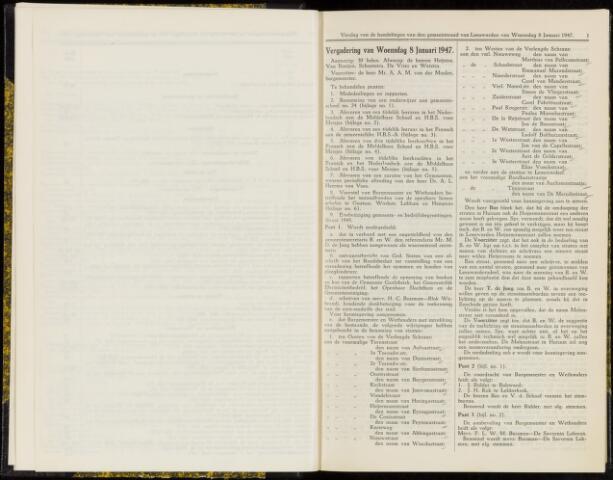 Raadsverslagen van de gemeente Leeuwarden, 1865-2007 (Notulen) 1947