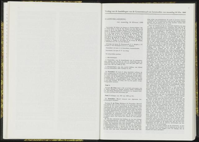 Raadsverslagen van de gemeente Leeuwarden, 1865-2007 (Notulen) 1969-02-10
