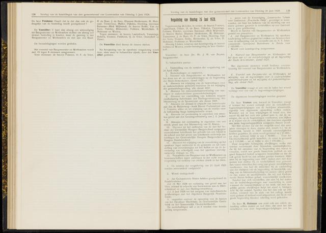 Raadsverslagen van de gemeente Leeuwarden, 1865-2007 (Notulen) 1928-06-26