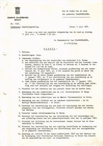raadsverslagen Idaarderadeel 1935-1983 1967-07-11