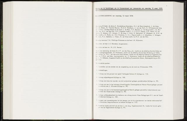 Raadsverslagen van de gemeente Leeuwarden, 1865-2007 (Notulen) 1979-03-12