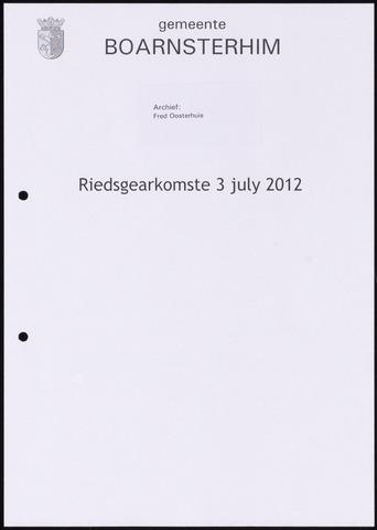 Boarnsterhim vergaderstukken gemeenteraad  2012-07-03