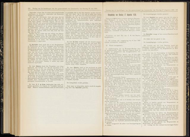Raadsverslagen van de gemeente Leeuwarden, 1865-2007 (Notulen) 1920-08-17