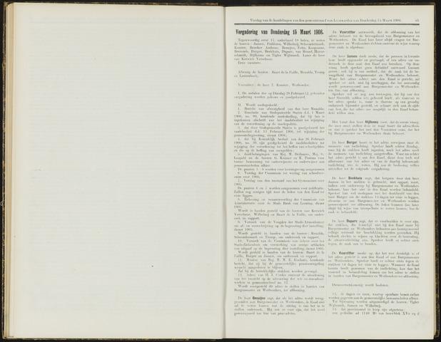 Raadsverslagen van de gemeente Leeuwarden, 1865-2007 (Notulen) 1906-03-15