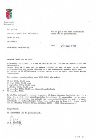 Boarnsterhim vergaderstukken gemeenteraad  1990-05-01
