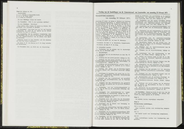 Raadsverslagen van de gemeente Leeuwarden, 1865-2007 (Notulen) 1971-02-22