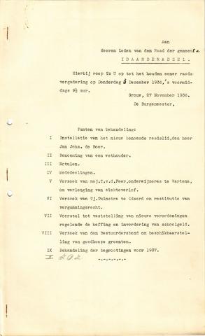 raadsverslagen Idaarderadeel 1935-1983 1936-12-03
