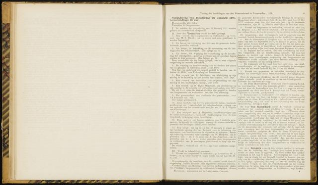 Raadsverslagen van de gemeente Leeuwarden, 1865-2007 (Notulen) 1871-01-26