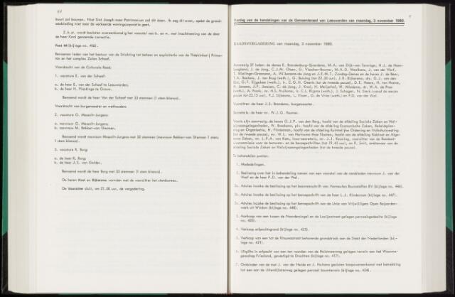 Raadsverslagen van de gemeente Leeuwarden, 1865-2007 (Notulen) 1980-11-03