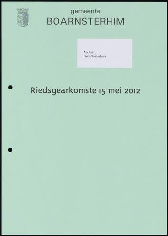 Boarnsterhim vergaderstukken gemeenteraad  2012-05-15