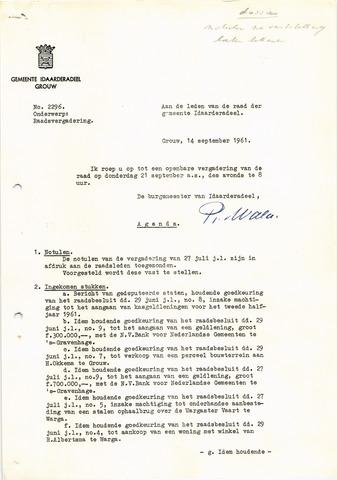 raadsverslagen Idaarderadeel 1935-1983 1961-09-21