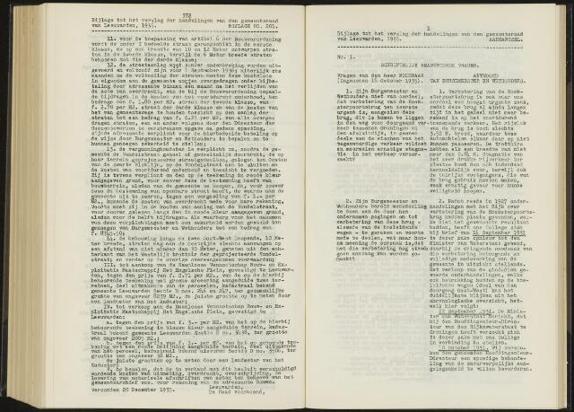 Raadsverslagen van de gemeente Leeuwarden, 1865-2007 (Schriftelijke vragen) 1935-01-01