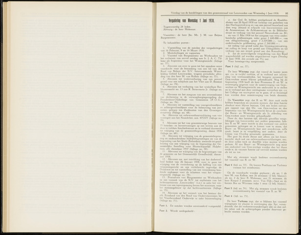 Raadsverslagen van de gemeente Leeuwarden, 1865-2007 (Notulen) 1938-06-01