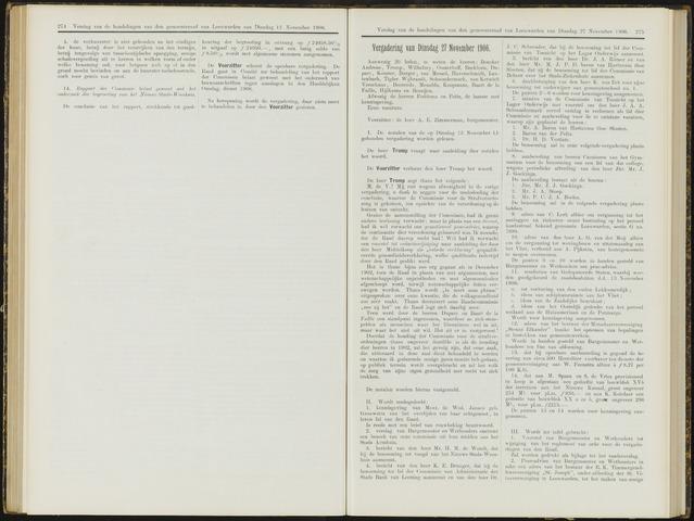 Raadsverslagen van de gemeente Leeuwarden, 1865-2007 (Notulen) 1906-11-27